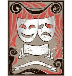vintage theater masks vector image