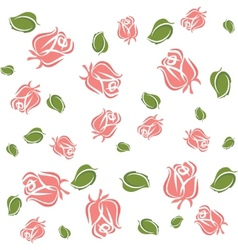 wallpaper roses and leaves vector image
