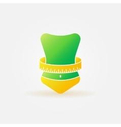 Weight loss bright logo vector image