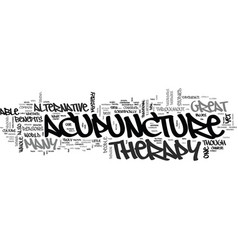 Why acupuncture is a great alternative therapy vector