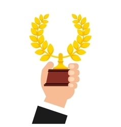 Wreath crown award icon vector
