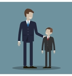 Businessman and Boy vector image vector image