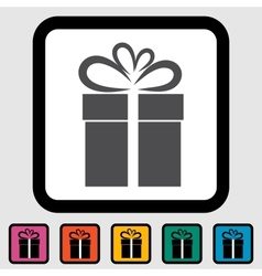 Christmas with gift box vector image vector image