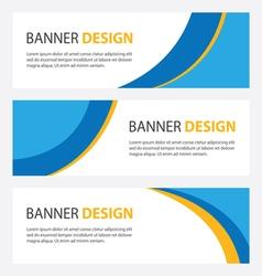 set of three header designs business vector image