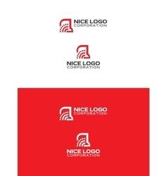 signal truck logo vector image vector image