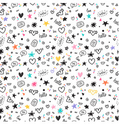 trendy hand drawn background abstract seamless vector image