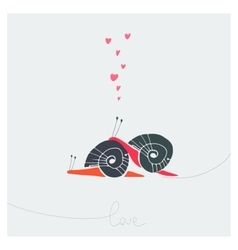 Two funny snails vector image