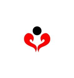 abstract man shaped like a heart vector image vector image