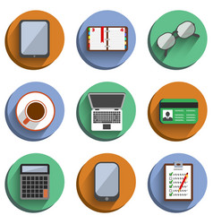 Business Set Workplace Icons vector image vector image