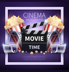 cinema poster online movies and vector image