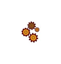 Colored mechanizam icon vector
