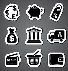 finance sticker label vector image
