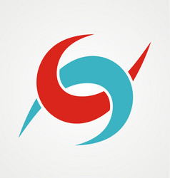 Letter s abstract connect company logo vector