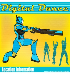 electric dancing vector image vector image