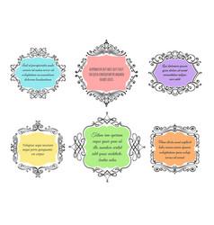 handdrawn floral frame set vector image vector image