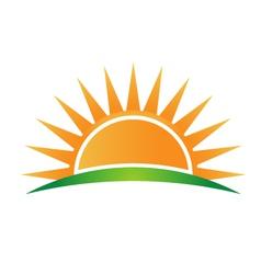 Sunshine logo vector image