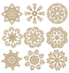 brown embroidery vector image vector image