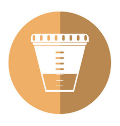 container sample laboratory icon shadow vector image vector image