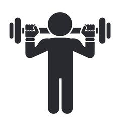 gym icon vector image
