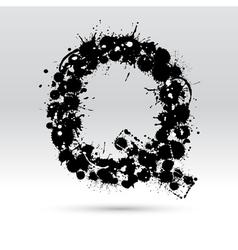 Letter Q formed by inkblots vector image vector image