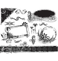 plant decorations set vector image