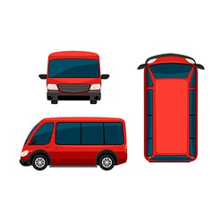 A red van vector image