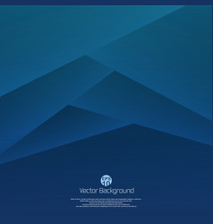 abstract of 3d blue paper cut background vector image