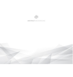 abstract white and gray polygonal header vector image
