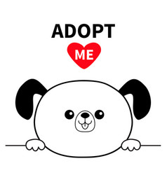 Adopt me dont buy dog head face hands paw holding vector