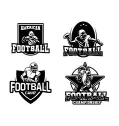 american football league badge collection black vector image