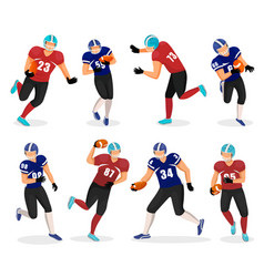 american football players set gridiron collection vector image