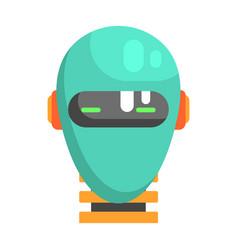 Android head facing portrait part futuristic vector