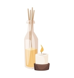 Aroma spa candles vector image