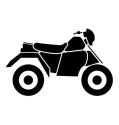 Atv motorcycle on four wheels vector