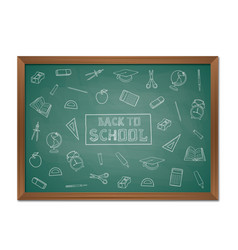 back to school background with chalkboard vector image