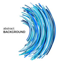 Background with blue colorful curved lines vector