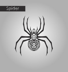 Black and white style icon of halloween spider vector
