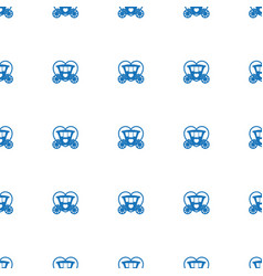 Brougham icon pattern seamless isolated on white vector