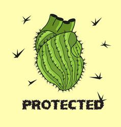 cactus heart vector image