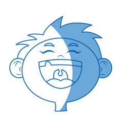Cartoon face boy happy celebration image vector