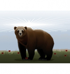 cheerful bear vector image