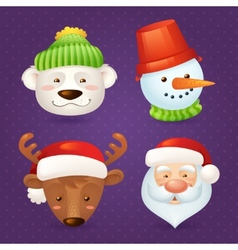 Christmas characters set vector