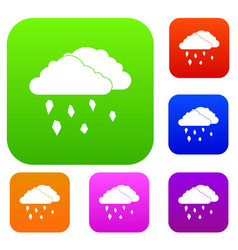 Clouds and hail set collection vector