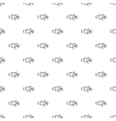 Clown fish pattern simple style vector image