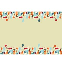 Cocktail menu design background vector image
