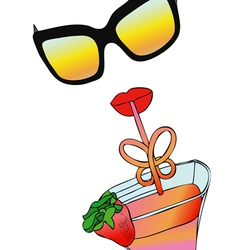 Cocktail Strawberry vector image