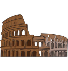 colosseum color paint on white background vector image