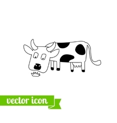 Cow icon 1 vector