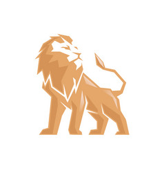 Creative abstract lion logo vector