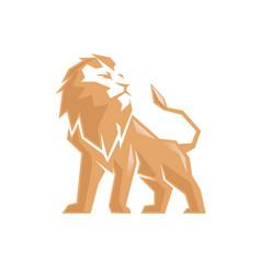creative abstract lion logo vector image